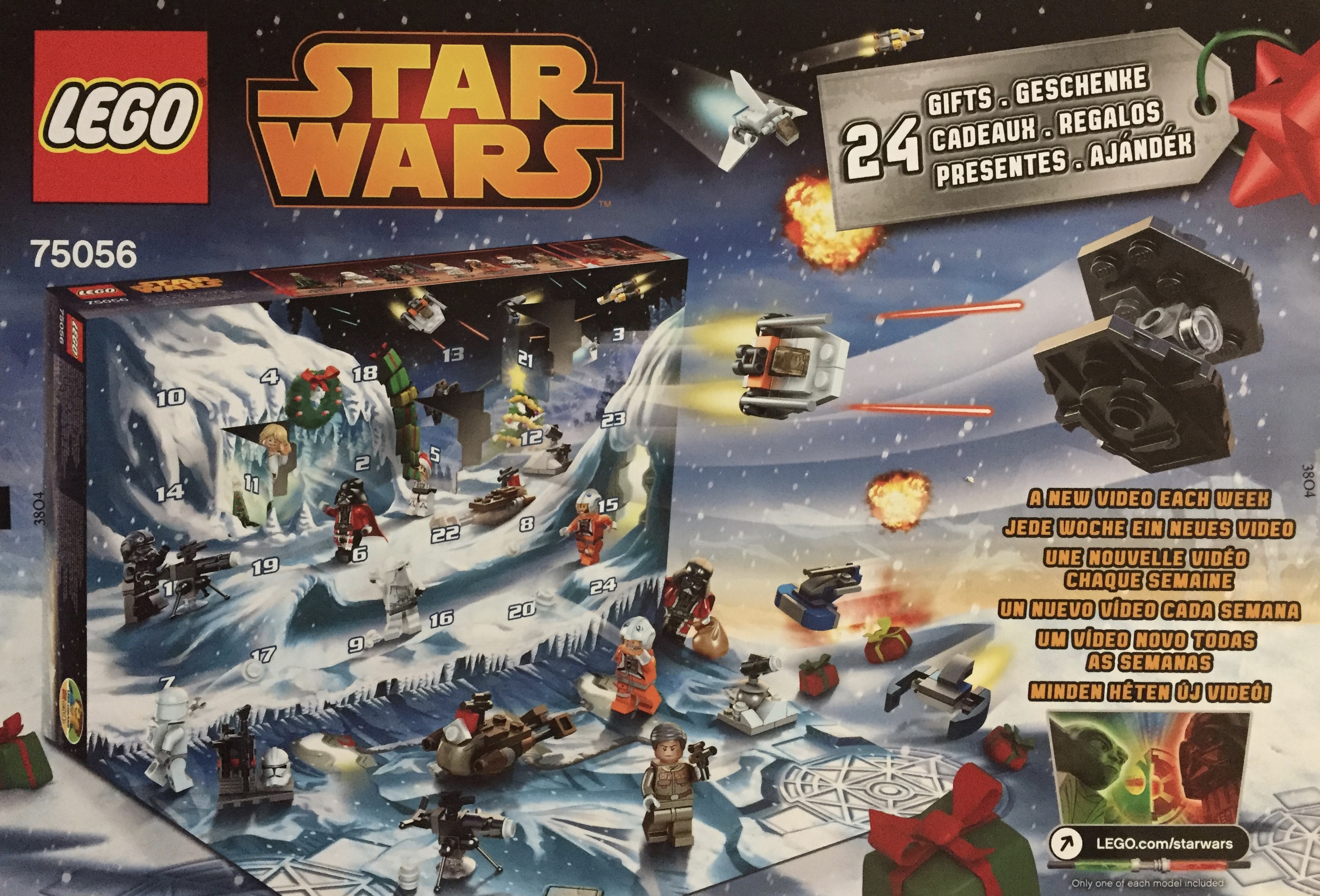 lego star wars adventskalender 75056 billiga leksaker. Black Bedroom Furniture Sets. Home Design Ideas