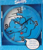 Smurfarna Vägg-klocka Blå
