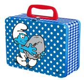 SMURF Plåtväska Smurfarna (Tin box) Blå